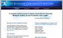 Business Continuity Systems